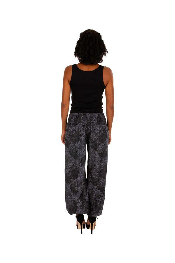 Pantalon femme bouffant gris look bohème tendance Jehan 305979