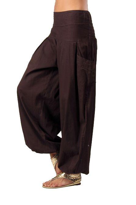 Pantalon femme bouffant marron Audric 267438