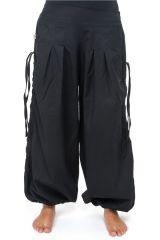 Pantalon femme bouffant noir transformable en pantacourt Balino 304724