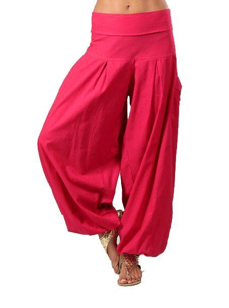Pantalon femme bouffant rose Audric 267437