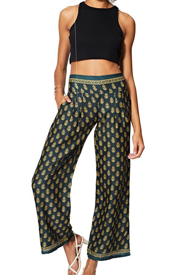 Pantalon femme chic et ample de style ethnique chic Tea