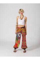 Pantalon Femme coloré et ample pour l\'été en coton Paula