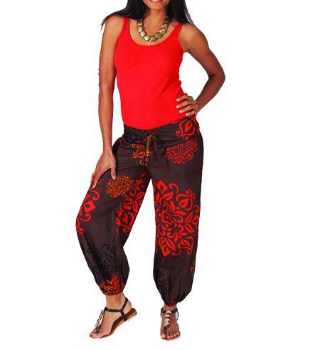 Pantalon femme coloré marron Alyson 267445