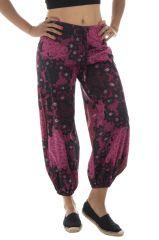 Pantalon femme coloré pour l'été en coton Lilou 291514
