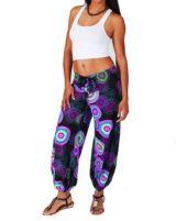 Pantalon femme coloré violet Alyson 267444