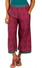 Pantalon femme confortable et ample look ethnique Mary