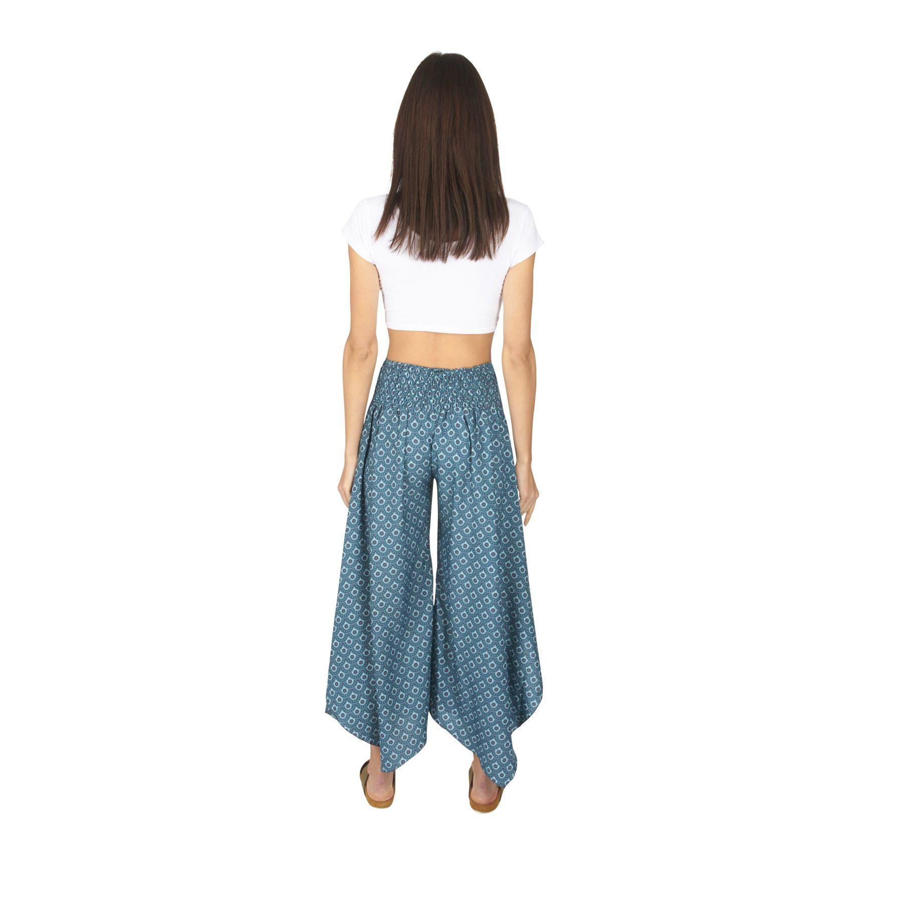 pantalon femme coupe large à patte d'eph imprimé wax Chantel