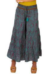 Pantalon femme d'été ample et ethnique Banjul turquoise 314527