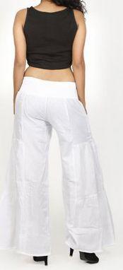 Pantalon femme d'été original et pas cher Blanc Cassio 272208