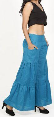 Pantalon femme d'été original et pas cher Bleu Cassio 272209