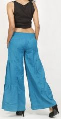 Pantalon femme d'été original et pas cher Bleu Cassio 272210