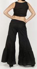 Pantalon femme d'été original et pas cher Noir Cassio 272206