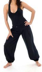 Pantalon femme de couleur noir avec une coupe droite Colmine 305455