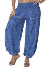 Pantalon femme de mode indienne bleu Bollywood 282852