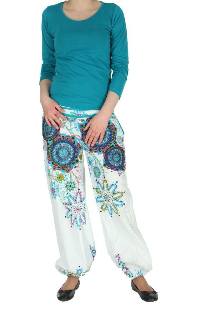 Pantalon femme de plage blanc Ginny 267609