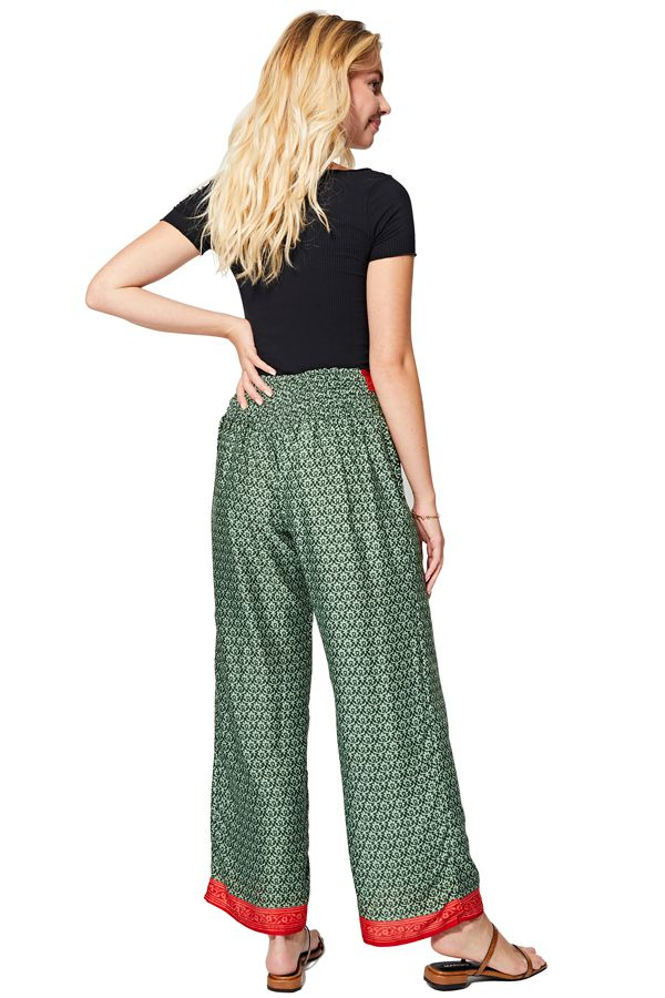 Pantalon femme élégant et fluide de style ethnique d\'été Thelma