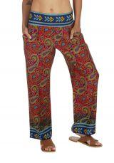 Pantalon femme été coloré large et fluide Angelin 318415