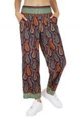 Pantalon femme été large ethnique wax Angeli 318418