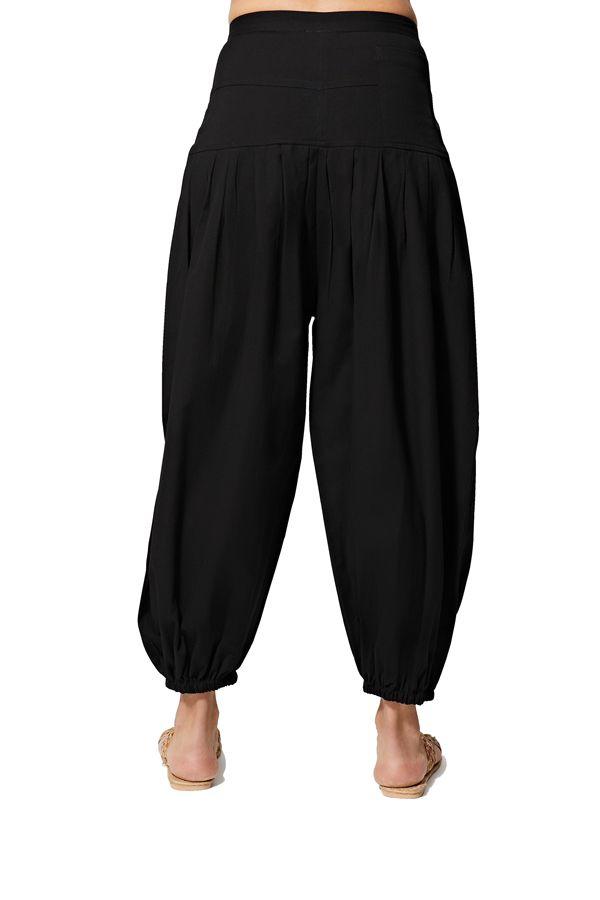 Pantalon femme ethnique d\'été uni chic ethnique Ghaada