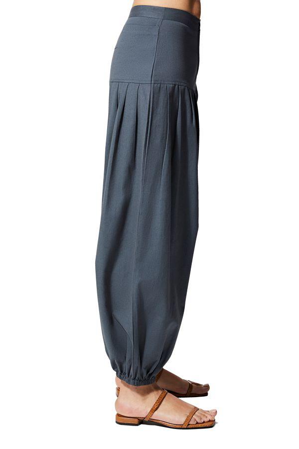 Pantalon femme ethnique d\'été uni chic ethnique Hadeel