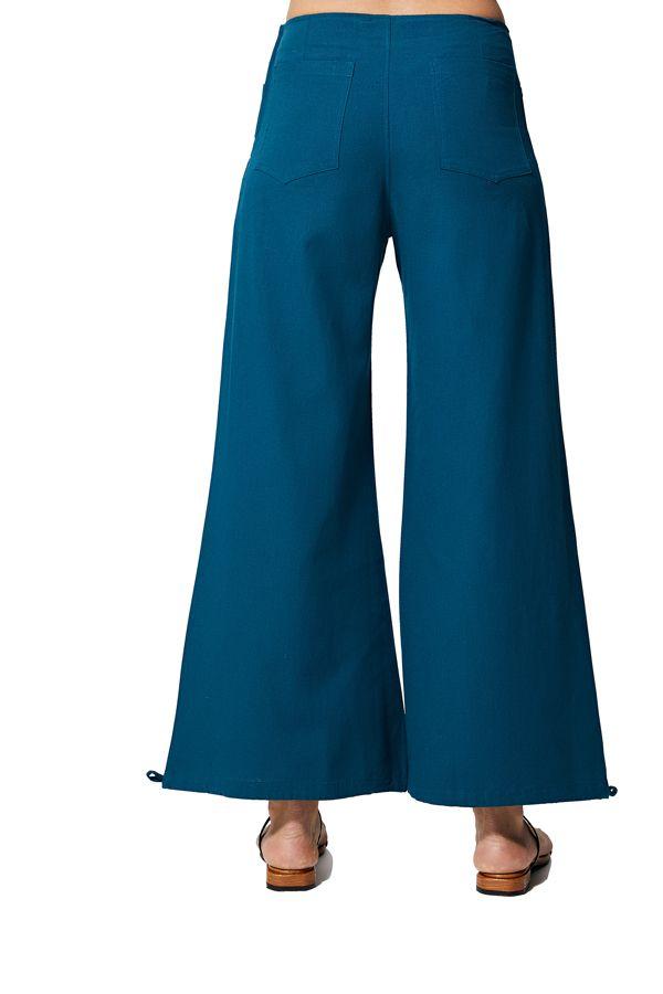Pantalon femme ethnique d\'été uni chic original Fateena