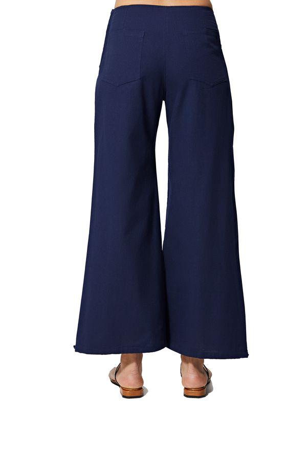 Pantalon femme ethnique d\'été uni chic original Fawzia