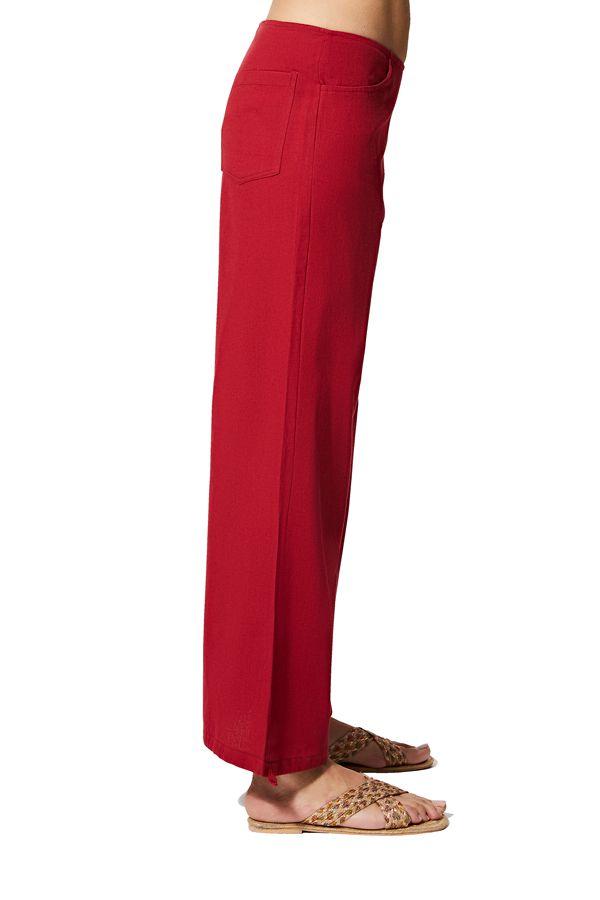 Pantalon femme ethnique d\'été uni chic original Firdaus
