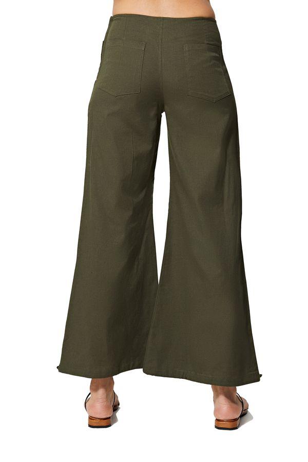 Pantalon femme ethnique d\'été uni chic original Gaitha