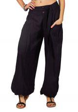 Pantalon femme ethnique et original bleu marineCyril 282490