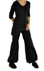 Pantalon femme ethnique hanak noir 244989