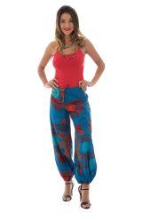 Pantalon femme ethnique pour l'été en coton Lilou 288869