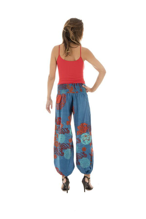 Pantalon femme ethnique pour l'été en coton Lilou 288870