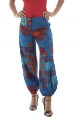 Pantalon femme ethnique pour l'été en coton Lilou 291519