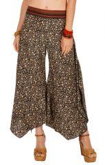 Pantalon femme évasé avec une coupe asymétrique Lina