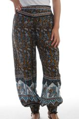 Pantalon femme fabriqué en Inde Original et Léger Chalima Noir 297745