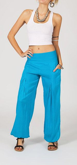 Pantalon femme fluide bleu Danny 268050