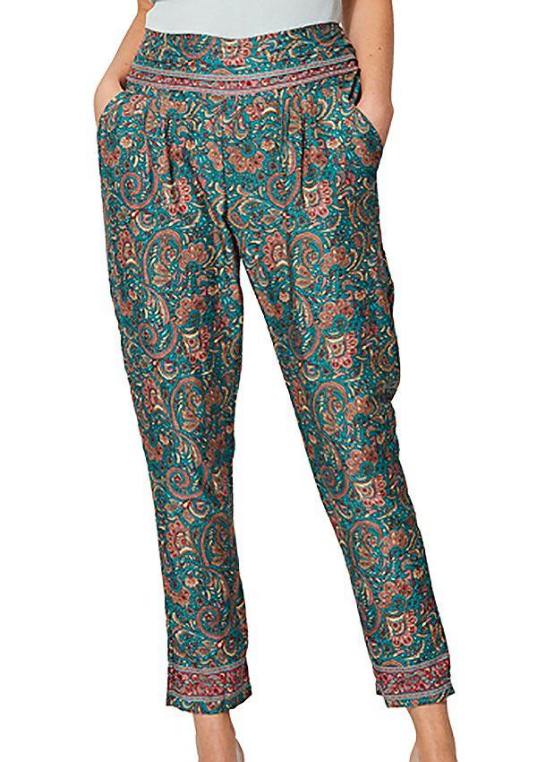 Pantalon femme fluide chino imprimé bohème Nomi