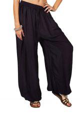 Pantalon femme fluide et léger de couleur bleu foncé Maxime 282761