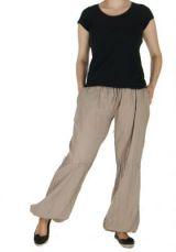 Pantalon femme fluide harry beige 261904
