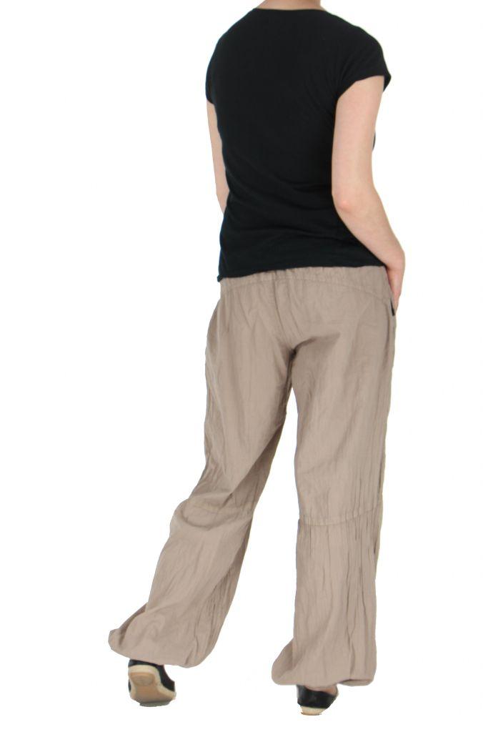 Pantalon femme fluide harry beige 261905