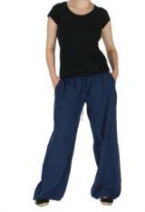Pantalon femme fluide harry bleu 261902