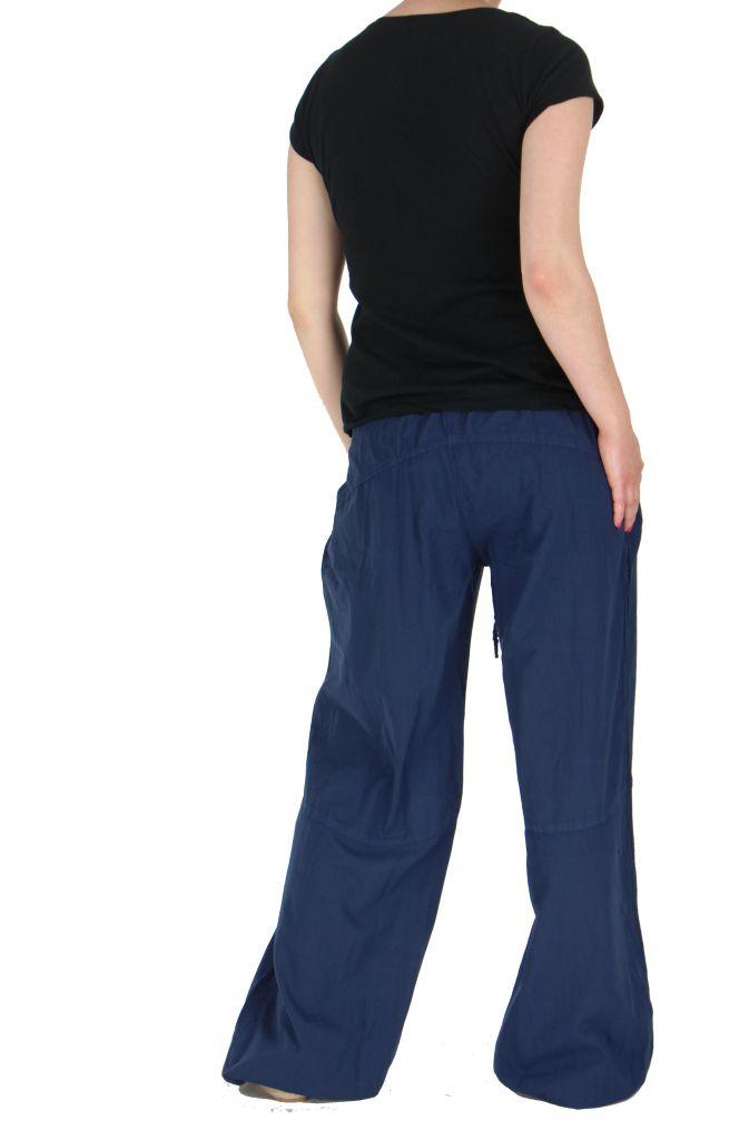 Pantalon femme fluide harry bleu 261903