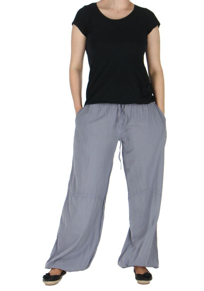Pantalon femme fluide harry gris 261898