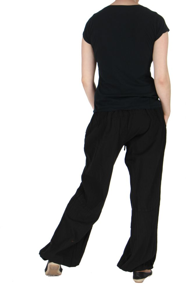 Pantalon femme fluide harry noir 261908