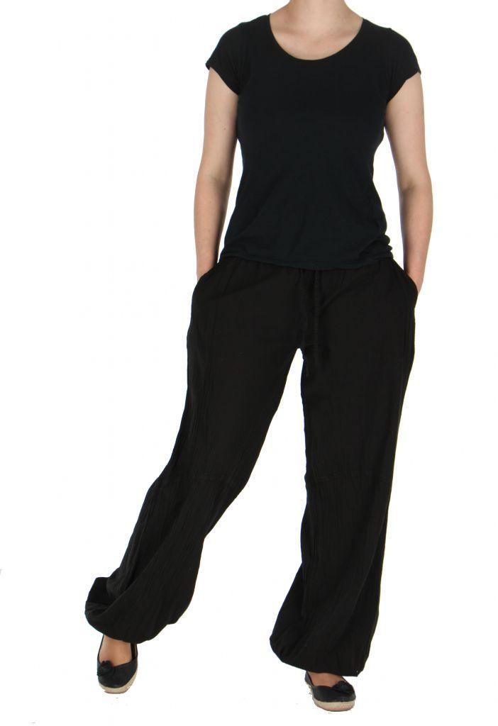 Pantalon femme fluide harry noir 261909