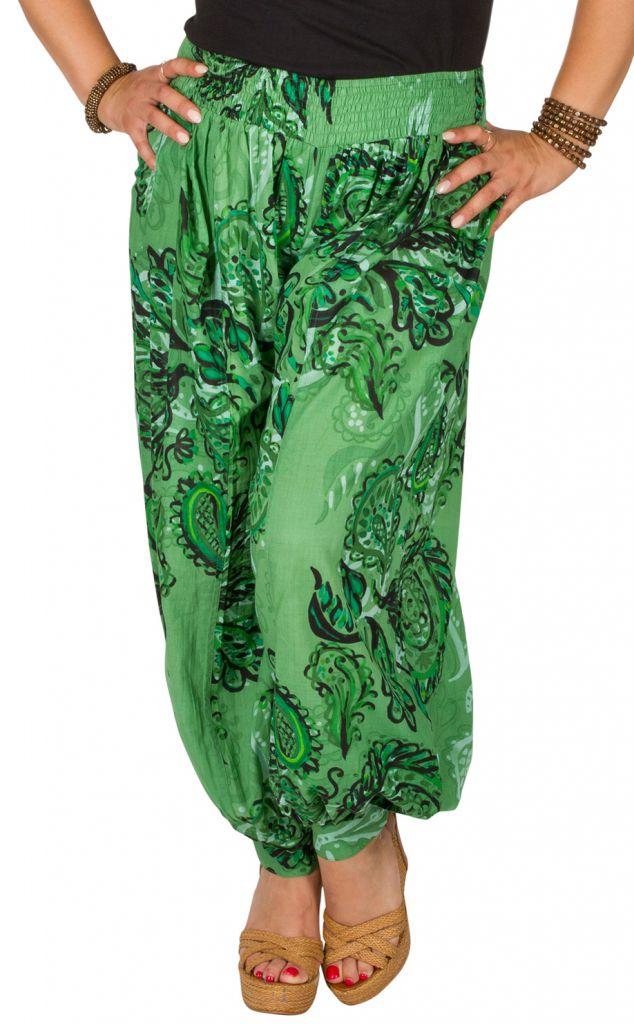 Pantalon femme grande taille en coton pas cher Della 306645
