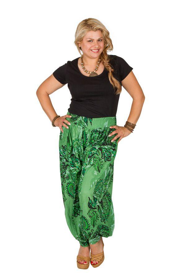 Pantalon femme grande taille en coton pas cher Della 306646