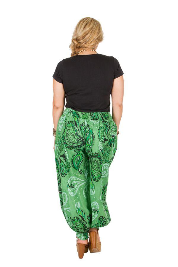 Pantalon femme grande taille en coton pas cher Della 306647