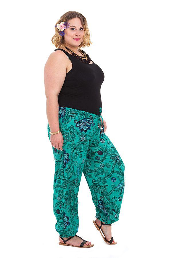 pantalon femme grande taille ethnique et original martin vert. Black Bedroom Furniture Sets. Home Design Ideas
