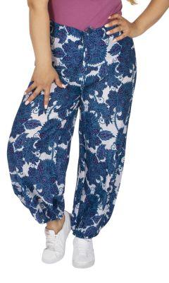 Pantalon femme grande taille léger original et fleuri Tirany
